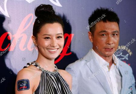 Stock Image of Fala Chen, Francis Ng Hong Kong actress Fala Chen, left, and actor Francis Ng pose during a promotional event for Italian fashion brand Paul & Shark in Hong Kong