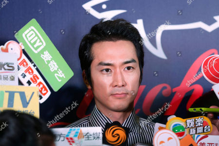 Song Seung-heon South Korean actor Song Seung-heon speaks during the promotional event of the Italian fashion brand store Paul & Shark in Hong Kong