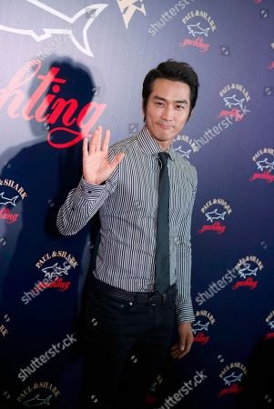 Song Seung-heon South Korean actor Song Seung-heon poses during the promotional event of the Italian fashion brand store Paul & Shark in Hong Kong