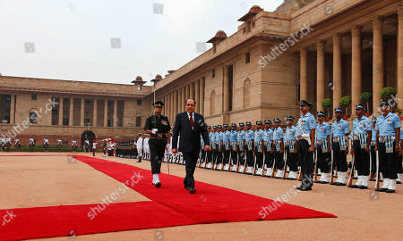 Nouri Kamil Al-Maliki Iraqi Prime Minister Nouri al-Maliki, foreground, inspects a guard of honor during a ceremonial reception accorded to him at the presidential palace in New Delhi, India, . Al-Maliki is on a four-day visit to India