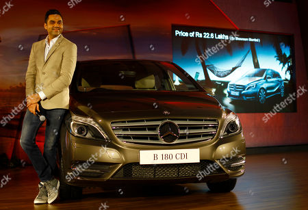 Abhay Deol Bollywood actor Abhay Deol poses with the Mercedes Benz New B-class diesel car during its launch in Mumbai, India, . The car retails at US$37,856 in Mumbai
