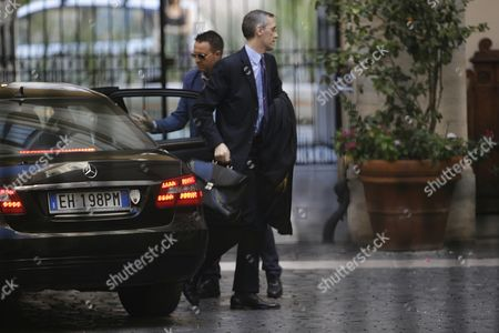 Silvio Berlusconi's lawyer Niccolo' Ghedini arrives at Grazioli palace, Silvio Berlusconi's residence in Rome, . Berlusconi's fate is hanging in the balance as Italy's highest court deliberates his appeal of a tax fraud conviction and sentence of four years in jail and a five-year ban on political office