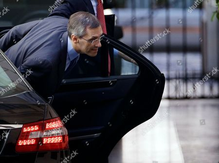 """Sivlio Berlusconi's Lawyer NIccolo' Ghedini arrives at Palazzo Grazioli, Berlusconi's residence, in Rome, . Italy's former premier, Silvio Berlusconi, for the first time in decades of criminal prosecutions related to his media empire was definitively convicted of tax fraud and sentenced to prison by the nation's highest court, Judge Antonio Esposito, in reading the court's decision Thursday, declared Berlusconi's conviction and four-year prison term """"irrevocable."""" He also ordered another court to review the length of a ban on public office - the most incendiary element of the conviction because it threatens to interrupt, if not end, Berlusconi's political career"""