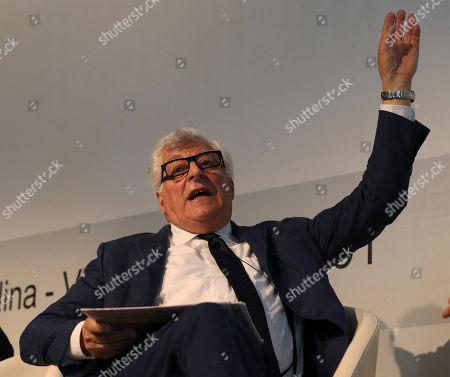 Prada fashion group CEO Patrizio Bertelli, attends the 'Luxury' fashion summit in Milan, Italy