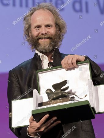 Philip Groning Director Philip Groning show his jury special prize for the movie The Police officer's wife during the awards ceremony of the 70th edition of the Venice Film Festival in Venice, Italy