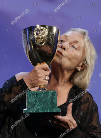Elena Cotta Actress Elena Cotta holds her Volpi Cup for Best Actress for her role in the film Via Castellana Bandiera, during the awards ceremony of the 70th edition of the Venice Film Festival in Venice, Italy