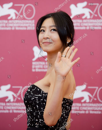 Lee Eun-woo Actress Lee Eun-woo, poses during a photo call for the movie 'Moebius' at the 70th edition of the Venice Film Festival held from Aug. 28 through Sept. 7, in Venice, Italy