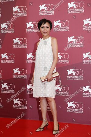 Actress Lu Yi-ching poses for photographers at the Stray Dogs photo call during the 70th edition of the Venice Film Festival held from Aug. 28 through Sept. 7, in Venice, Italy