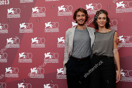 Gabriele Rendina, Livia Rossi From left, actors Gabriele Rendina and Livia Rossi, pose for photographers at the photo call for the film The Intrepid at the 70th edition of the Venice Film Festival held from Aug. 28 through Sept. 7, in Venice, Italy