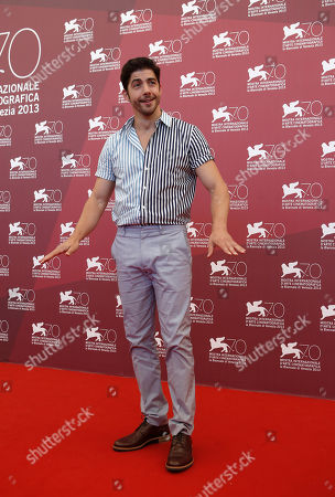 Stock Photo of Pierre Yves Cardinal Actor Pierre Yves Cardinal poses for photographers at the Tom A La Ferme photo call at the 70th edition of the Venice Film Festival held from Aug. 28 through Sept. 7, in Venice, Italy