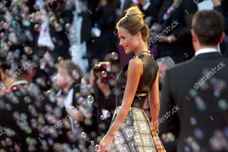 Model Natalia Borges on the red carpet for the screening of the film Tracks, at the 70th edition of the Venice Film Festival held from Aug. 28 through Sept. 7, in Venice, Italy