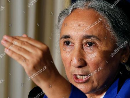 Rebiya Kadeer World Uyghur Congress President Rebiya Kadeer speaks during a press conference in Tokyo