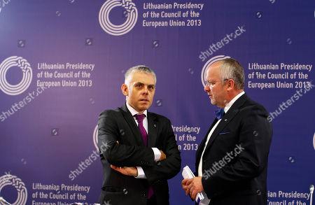 Editorial image of Lithuania EU, Vilnius, Lithuania