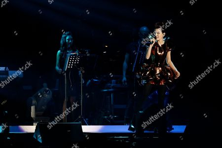 Stock Image of Ella Chen performs at a concert in Kuala Lumpur, Malaysia