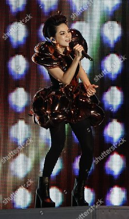 Stock Photo of Ella Chen performs at a concert in Kuala Lumpur, Malaysia
