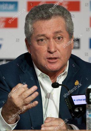 Editorial photo of Mexico WCup Soccer Coach, Mexico City, Mexico