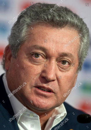 """Stock Photo of Victor Manuel Vucetich Victor Manuel Vucetich speaks at his presentation as the new coach for Mexico's national soccer team in Mexico City, . Vucetich is one of the most successful coaches in the local league, where he´s known as """"King Midas."""" He replaces Jose Manuel De la Torre who was fired on Saturday after a loss to Honduras"""