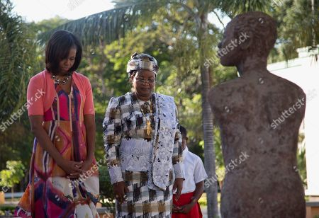 Michelle Obama, Salma Kikwete First lady Michelle Obama and Tanzanian first lady Salma Kikwete pause after placing flowers at the Embassy Bombing Memorial at the National Museum, in Dar es Salaam, Tanzania, . Tanzania, which along with Nairobi was the site of near-simultaneous embassy attacks in August 1998