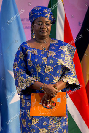 """Salma Kikwete Tanzanian first lady Salma Kikwete arrives at the African First Ladies Summit: """"Investing in Women: Strengthening Africa,"""" hosted by the George W. Bush Institute, in Dar es Salaam, Tanzania"""