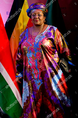 "Stock Picture of Sia Nyama Koroma Sia Nyama Koroma, first lady Sierra Leone, arrives at the African First Ladies Summit: ""Investing in Women: Strengthening Africa,"" hosted by the George W. Bush Institute, in Dar es Salaam, Tanzania"
