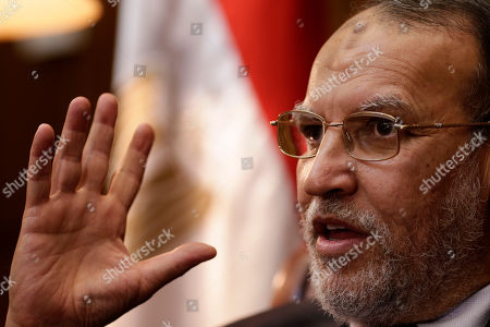 Essam el-Erian Egyptian Shura council member and vice president of the Muslim Brotherhood's Freedom and Justice Party Essam el-Erian speaks during an interview with the Associated Press in his office at the Shura Council, in Cairo, Egypt