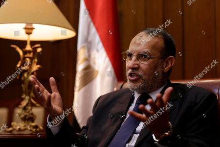 "Essam el-Erian Egyptian Shura council member and vice president of the Muslim Brotherhood's Freedom and Justice Party Essam el-Erian speaks during an interview with the Associated Press in his office at the Shura Council, in Cairo, Egypt. Egypt's Muslim Brotherhood is ramping up calls for nationwide protests, urging people to take to the streets against the new military-backed government. In a pre-recorded message aired late Wednesday on one of Al-Jazeera's Arabic news channels, el-Erian called on people to rise against the ""failed, bloody military regime"