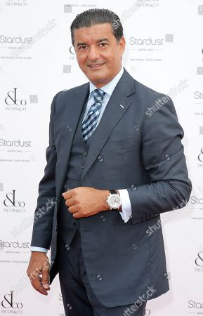 Bukharian- American jeweler, founder and chairman of Jacob and Company, Jacob Arabo poses for photographers before a coktail gala in Monaco