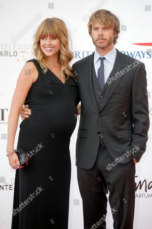 Eric Christian Olsen, Sarah Wright Eric Christian Olsen and his wife Sarah Wright pose during the opening ceremony of the 2013 Monte Carlo Television Festival, in Monaco