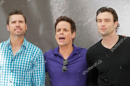 """Joshua Morrow, Christian Leblanc and Daniel Goddard From left, actors Joshua Morrow, Christian Leblanc and Daniel Goddard of TV series """"The Young and the Restless"""" pose for photographers during the 2013 Monte Carlo Television Festival, Monday, June 10, 2013, in Monaco"""