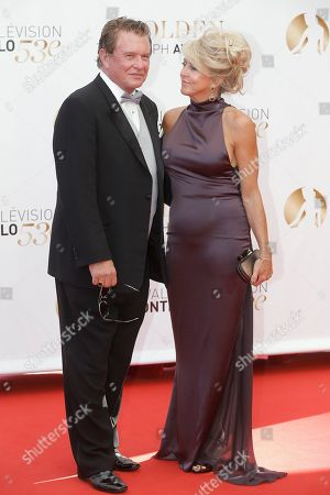 Tom Berenger, Laura Moretti Actor Tom Berenger and his wife Laura Moretti pose for photographers during the closing ceremony of the 2013 Monte Carlo Television Festival, in Monaco