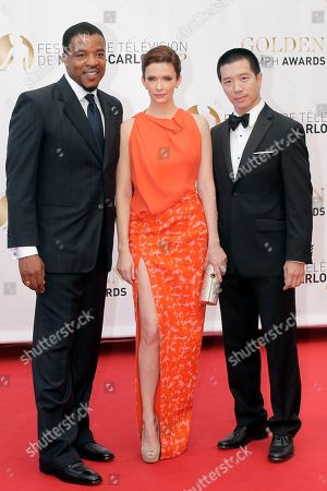 Russell Hornsby, Bitsie Tulloch, Reggie Lee From left, actors Russell Hornsby, Bitsie Tulloch and Reggie Lee pose for photographers during the closing ceremony of the 2013 Monte Carlo Television Festival, in Monaco