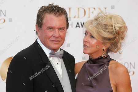Stock Photo of Tom Berenger, Laura Moretti Actor Tom Berenger and his wife Laura Moretti pose for photographers during the closing ceremony of the 2013 Monte Carlo Television Festival, in Monaco