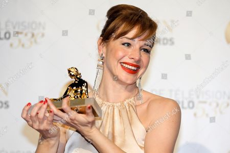 Eszter Onodi Actress Eszter Onodi of Hungary poses with her Golden Nymph Award during the closing ceremony of the 2013 Monte Carlo Television Festival, in Monaco