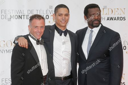 "David Eigenberg,Charlie Barnett,Eamonn Walker From leftt, actors David Eigenberg, Charlie Barnett and Eamonn Walker of TV series ""Chicago"" pose for photographers during the closing ceremony of the 2013 Monte Carlo Television Festival, in Monaco"