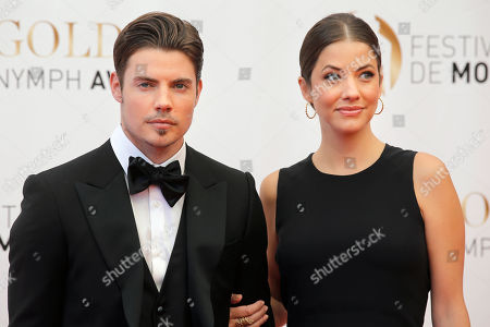 Josh Henderson,Julie Gonzalo Actors Josh Henderson and Julie Gonzalo pose for photographers during the closing ceremony of the 2013 Monte Carlo Television Festival, in Monaco
