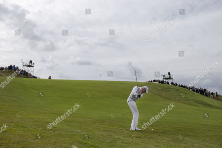 Simon Dyson Britain's Simon Dyson plays the ball on the 15th hole in the final round of the KLM Open men's golf tournament in the beach resort of Zandvoort, western Netherlands