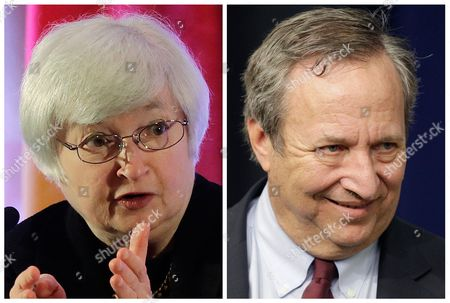 This photo combo shows Fed Vice Chair Janet Yellen, left, and former Treasury Secretary Lawrence Summers. Summers is the White House insider with a direct line to President Barack Obama. Yellen is the Federal Reserve veteran with a long list of congressional patrons. The two Ivy League trained economists have emerged as leading contenders to replace Ben Bernanke as chairman of the Fed, the nation's central bank. Obama could announce his nominee in the coming weeks