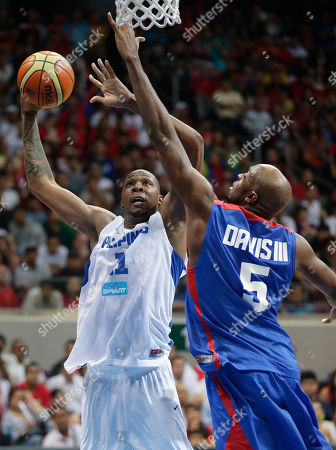 Marcis Douthit, Quincy Davis III The Philippines' Marcus Douthit (11) attempts a shot as Taiwan's Quincy Davis III defends during the FIBA Asia Basketball Championship late, at the Mall of Asia Arena in Pasay city south of Manila, Philippines. Taiwan won 84-79