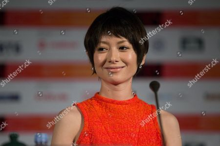 Yoko Maki Japanese actress Yoko Maki smiles during a news conference at the 35th Moscow International Film Festival in Moscow, Russia, . Yoko Maki stars in The Ravine of Goodbye, a Japanese drama film directed by Tatsushi Omori which is in competition at the Moscow International Film Festival