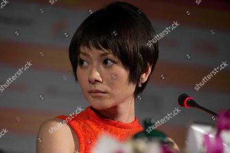 Yoko Maki Japanese actress Yoko Maki looks on during a news conference at the 35th Moscow International Film Festival in Moscow, Russia, . Yoko Maki stars in The Ravine of Goodbye, a Japanese drama film directed by Tatsushi Omori which is in competition at the Moscow International Film Festival