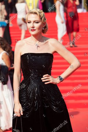 Renata Litvinova Russian actress, film director and screenwriter Renata Litvinova poses on the red carpet at the closing ceremony of the 35th Moscow International Film Festival in Moscow, Russia, on