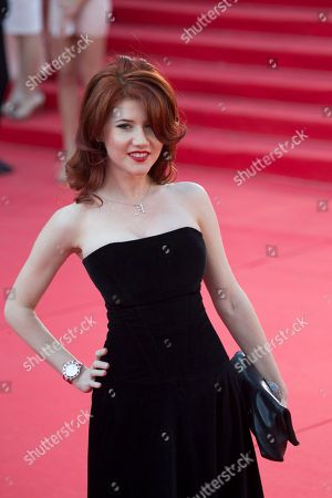 Stock Photo of Anna Chapman Russian Anna Chapman, who was deported from the U.S. in July 2010 on charges of espionage, poses on the red carpet at the opening ceremony of the 35th Moscow International Film Festival in Moscow, Russia