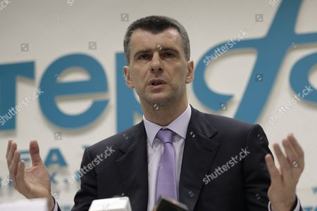Mikhail Prokhorov Russian billionaire Mikhail Prokhorov speaks at a news conference in Moscow, . Prokhorov said he is not running for Moscow mayor