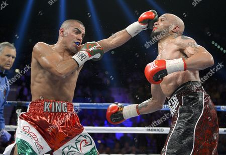 Ishe Smith, Carlos Molina Carlos Molina, left, lands a punch against Ishe Smith during an IBF junior middleweight title fight, in Las Vegas
