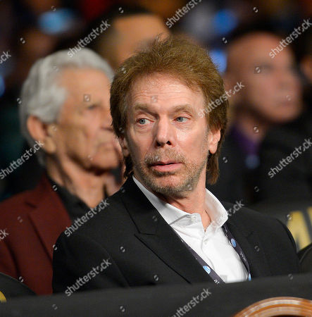 Ishe Smith, Carlos Molina, Jerry Bruckheimer Producer Jerry Bruckheimer is seen during an IBF junior middleweight title fight between Carlos Molina and Ishe Smith, in Las Vegas