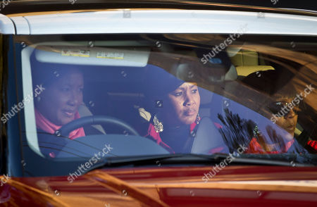 Makaziwe Mandela, Tukwini Mandela, Ndileka Mandela Nelson Mandela's daughter Makaziwe Mandela, left, granddaughter Tukwini Mandela, center, and granddaughter Ndileka Mandela, right, leave after visiting the Mediclinic Heart Hospital where the former South African President is being treated in Pretoria, South Africa . Nelson Mandela is responding to treatment and the 94-year-old's condition remains critical but stable after more than a month in the hospital, South Africa's president said Wednesday