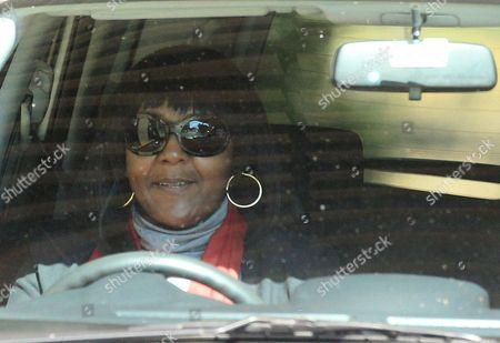 Nelson Mandela Granddaughter Ndileka Mandela leaves after visiting the Mediclinic Heart Hospital where former South African President Nelson Mandela is being treated in Pretoria, South Africa