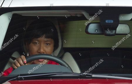 """Nelson Mandela Daughter Makaziwe Mandela leaves the Mediclinic Heart Hospital where former South African President Nelson Mandela is being treated in Pretoria, South Africa, . Mandela will spend his 95th birthday in hospital on Thursday, but was said to be making """"remarkable"""" progress"""