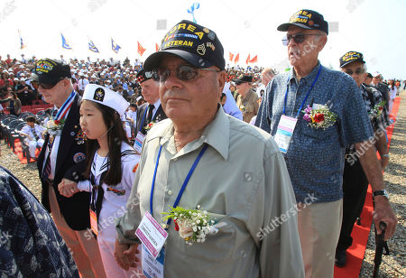 Korean War veterans from the United Sates arrive to attend the 63nd Incheon Landing Operations Commemoration ceremony, in Incheon, South Korea. Incheon is the coastal city where United Nations Forces led by U.S. General Douglas MacArthur landed in September, 1950 just months after North Korea invaded the South