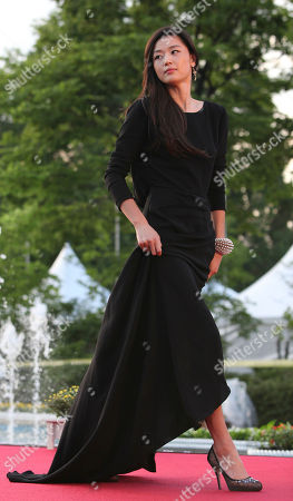 South Korean actress Gianna Jun arrives at the red carpet event of the Puchon International Fantastic Film Festival in Bucheon, west of Seoul, South Korea, . Puchon International Fantastic Film Festival held from July 18-28